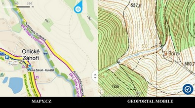 mapy.cz Geoportal mobile Aplikacje turystyczne na smartfona